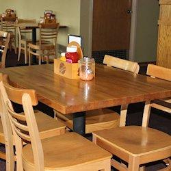 red oak_ butcher block table top_restaurant table tops