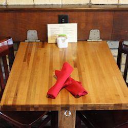 beautiful butcher block top_maple butcher block_solid wood table