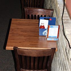 maple butcher block _hard_restaurant table tops