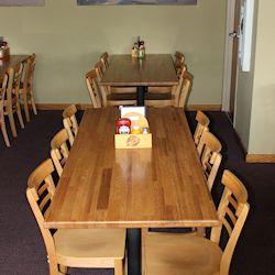 restaurant table tops_butcher block top_red oak